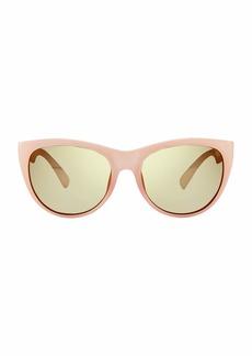 Revo Womens Polarized Sunglasses Barclay Cat Eye Frame 54 mm  Champagne