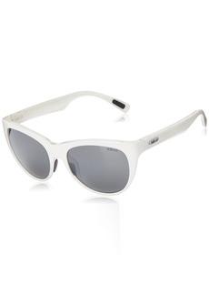 Revo Womens Polarized Sunglasses Barclay Cat Eye Frame 54 mm  Graphite