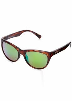 Revo Womens Polarized Sunglasses Barclay Cat Eye Frame 54 mm  Green Water