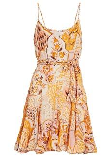 Rhode Casey Sleeveless Floral Mini Dress