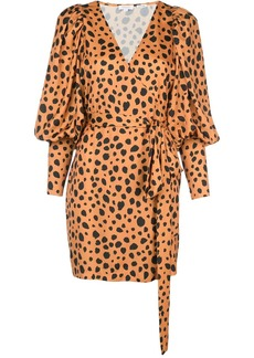 Rhode cheetah print wrap dress