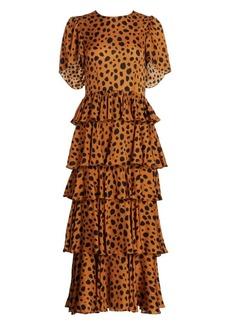 Rhode Serena Cheetah Print Dress