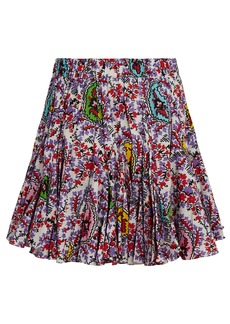 Rhode Hilary Paisley Mini Skirt