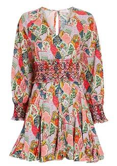 Rhode Olivia Floral Poplin Mini Dress