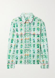 Rhode Rae Floral-print Cotton-voile Top