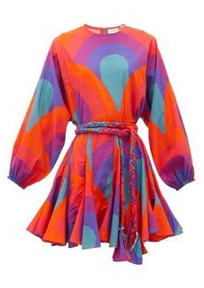 RHODE Ella rainbow-print cotton mini dress