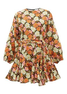 RHODE Fiona floral-print cotton wrap dress