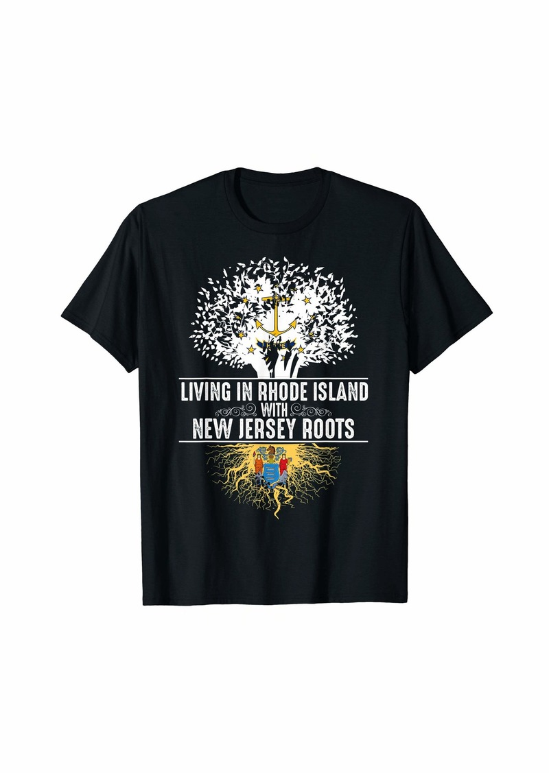 Rhode Island Home New Jersey Roots State Tree Gift T-Shirt