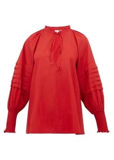 RHODE Sage balloon-sleeve cotton blouse