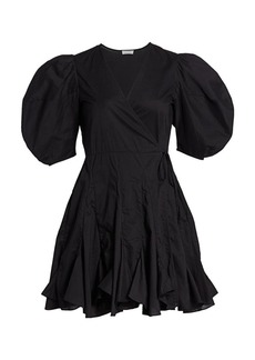 Rhode Rosie Puff Sleeve Wrap Dress