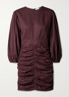 Rhode Sasha Ruched Tencel-twill Mini Dress