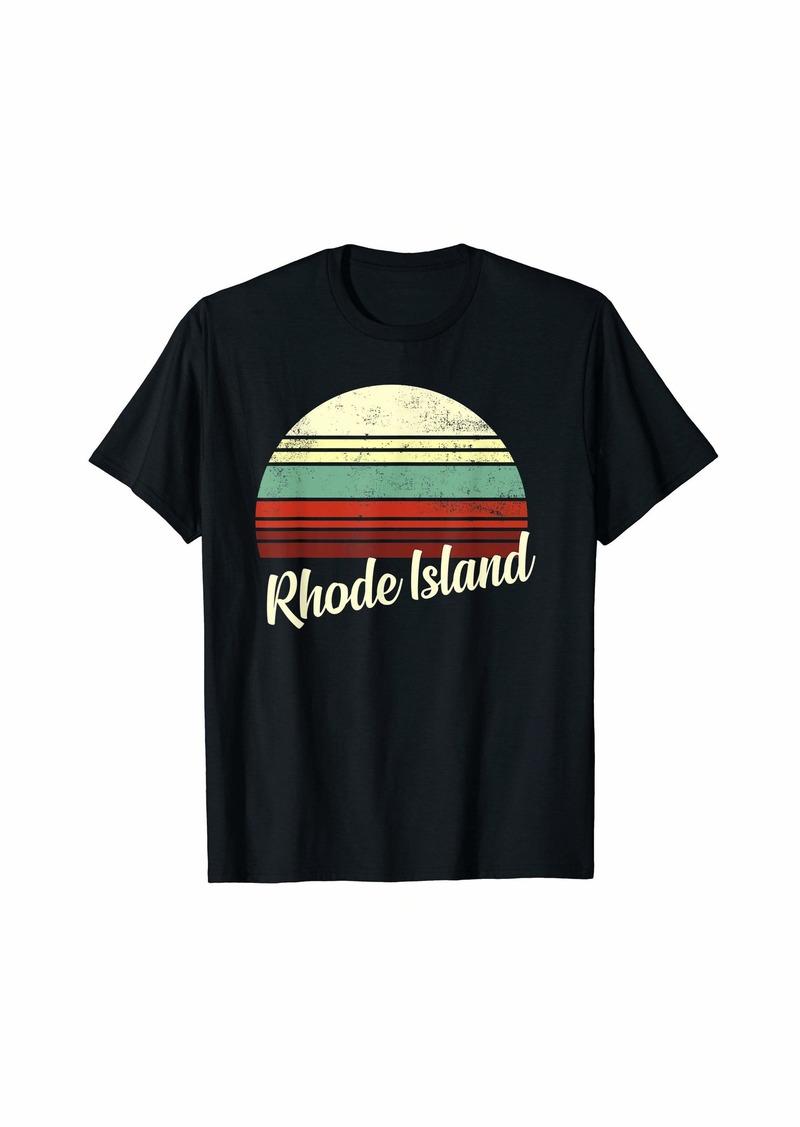 Vintage Retro Rhode Island State American T-Shirt