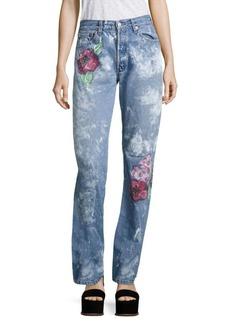Rialto Jean Project Vintage 501 Splatter Rose Boyfriend Jeans