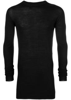Rick Owens sheer long-line sweater