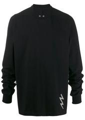 Rick Owens embroidered lightening bolt sweatshirt