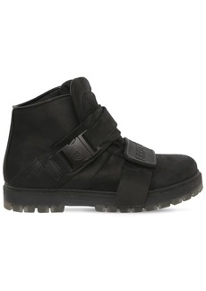 Rick Owens 30mm Birkenstock Leather Ankle Boots