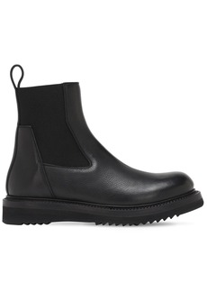 Rick Owens 30mm Creeper Leather Beatle Boots