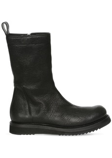 Rick Owens 30mm Leather Zip Boots