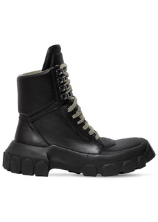 Rick Owens 40mm Leather Hiking Sneaker Boots