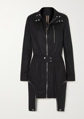 Rick Owens Abito Asymmetric Cotton Jacket