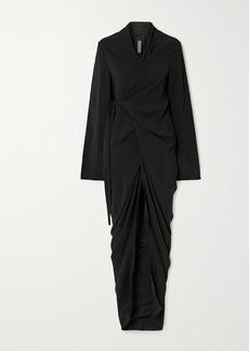 Rick Owens Abito Jersey Wrap Maxi Dress