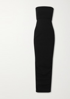 Rick Owens Abito Strapless Stretch Cotton-blend Crepe Gown