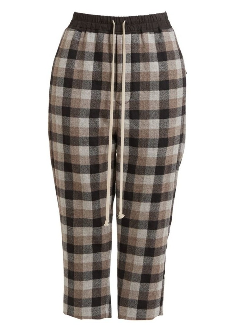 Rick Owens Astaires Drawstring Wool Trousers