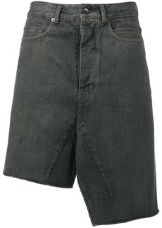 Rick Owens asymmetric denim skirt