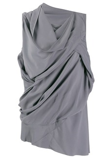 Rick Owens asymmetric draped blouse