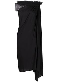 Rick Owens asymmetric draped dress