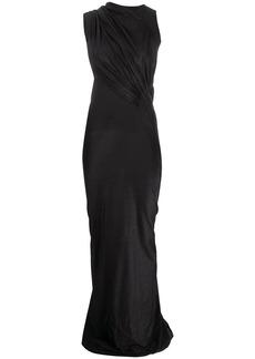 Rick Owens asymmetric draped gown