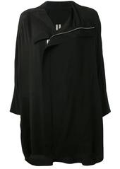 Rick Owens asymmetric draped jacket