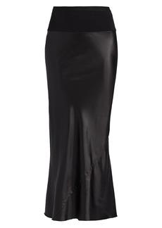 Rick Owens Asymmetric Latex Midi Skirt