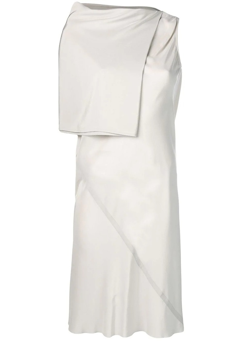 Rick Owens asymmetric midi dress