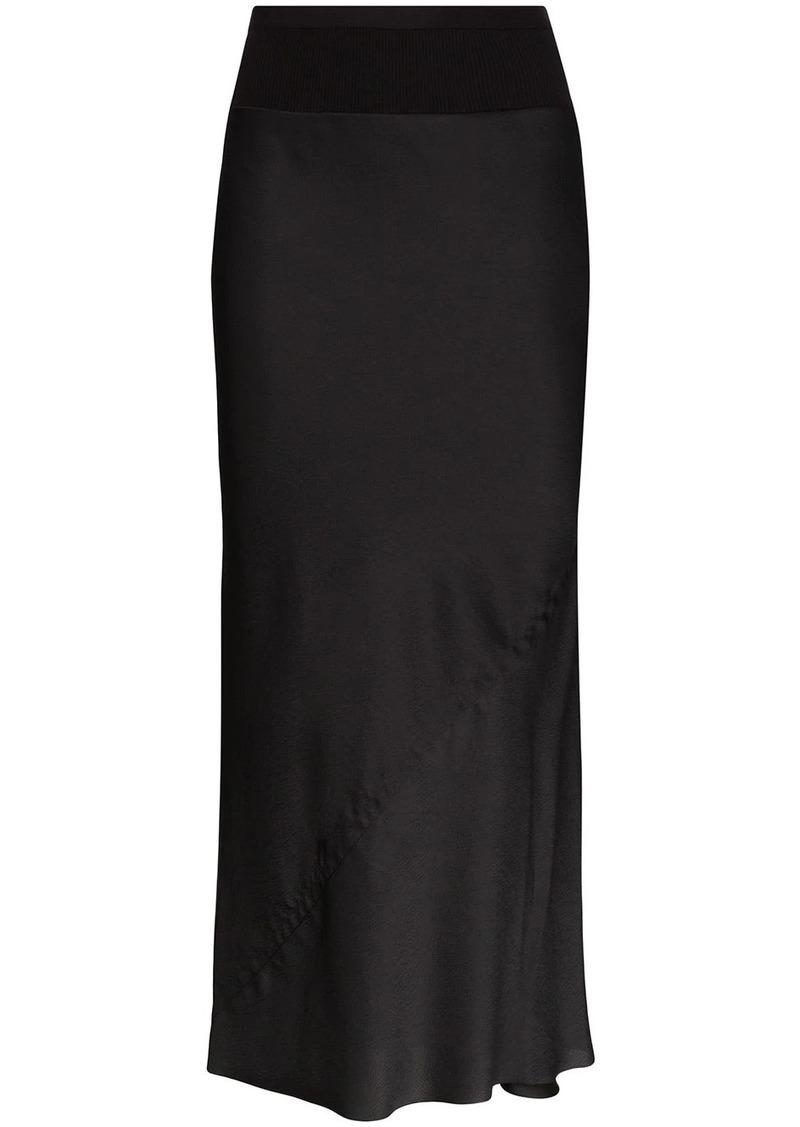 Rick Owens asymmetric satin skirt