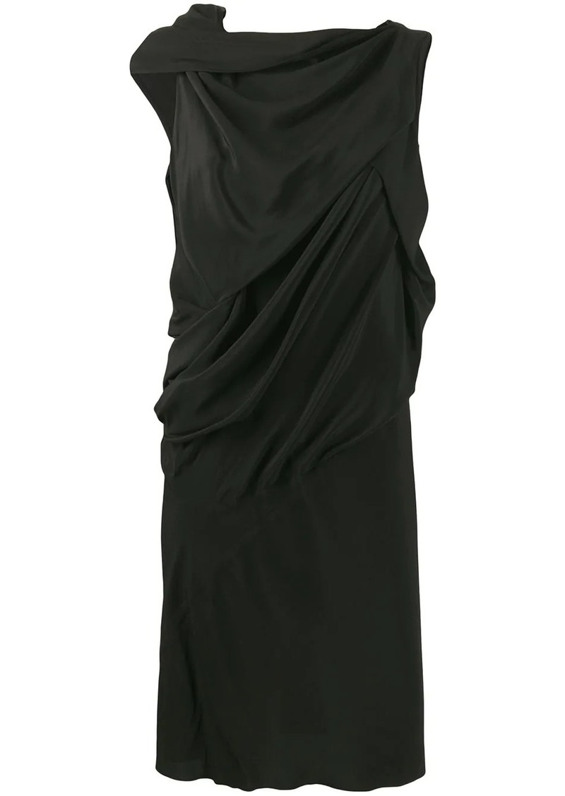 Rick Owens asymmetric shift dress