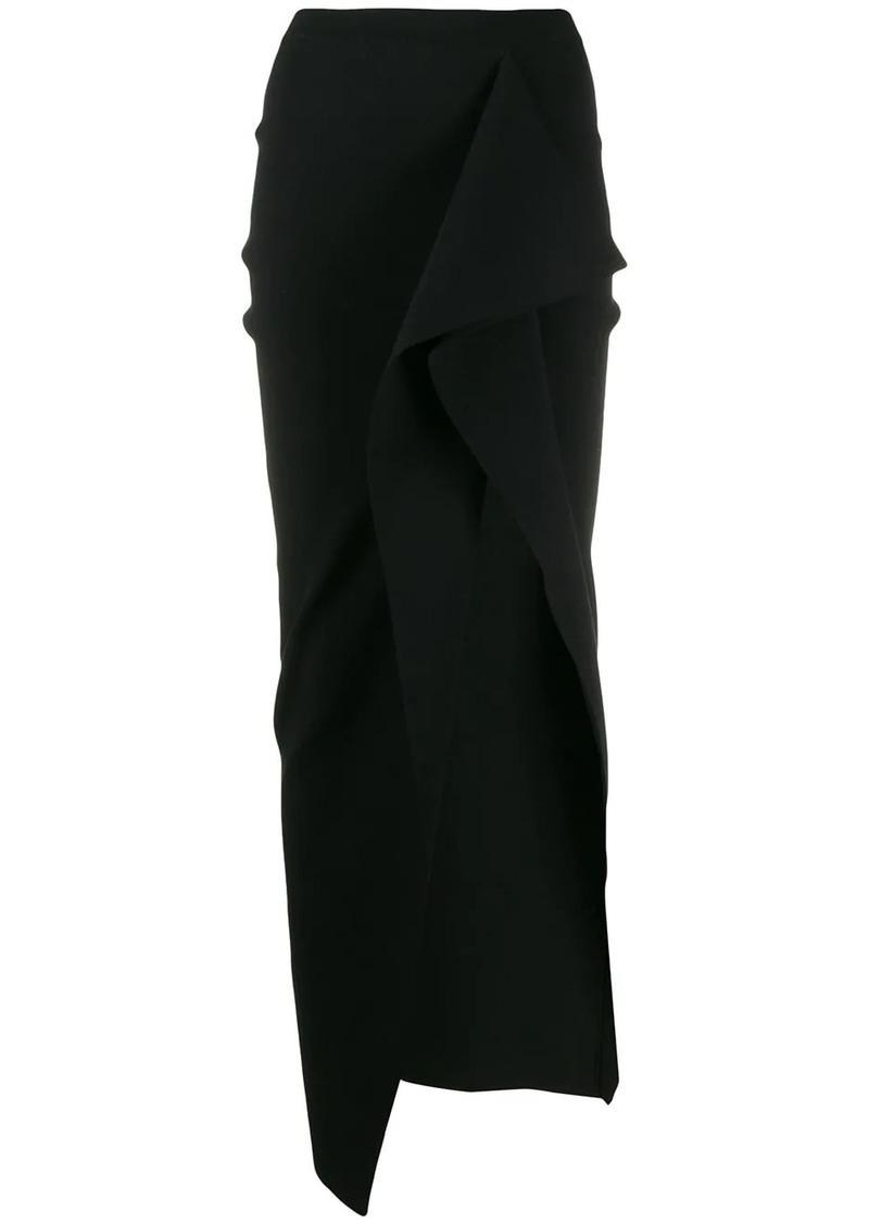 Rick Owens asymmetric side slit skirt