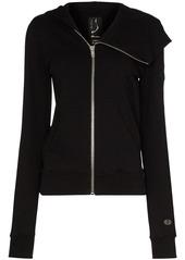 Rick Owens asymmetric zip hoodie