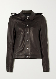 Rick Owens Babel Leather Jacket