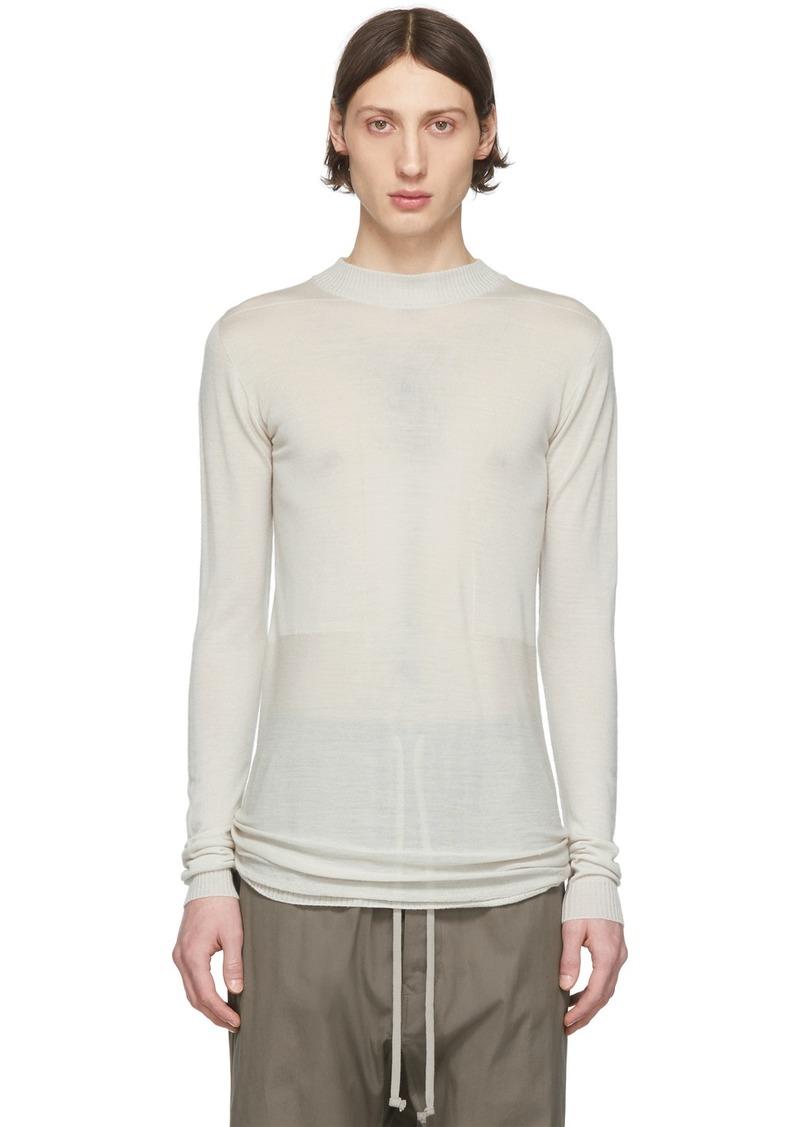 Rick Owens Beige Lupetto Sweater