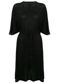 Rick Owens belted T-shirt dress
