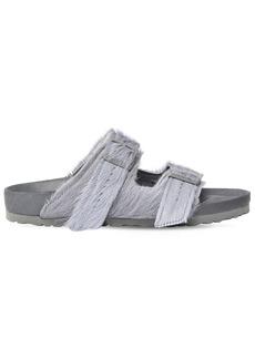 Rick Owens Birkenstock Arizona Ponyskin Sandals