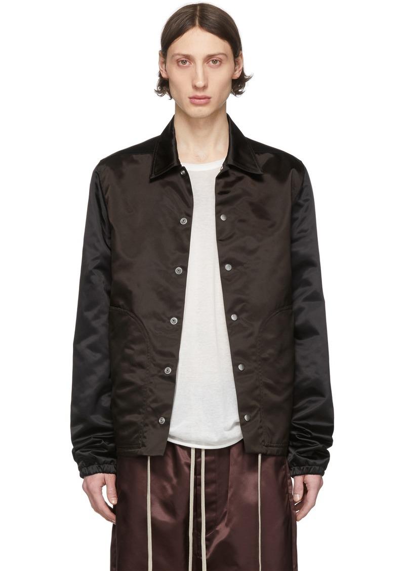 Rick Owens Black & Brown Bauhaus Jacket