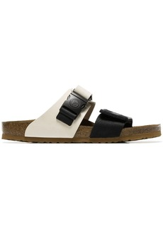Rick Owens black and white X birkenstock babel sandals