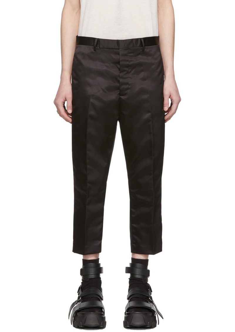 Rick Owens Black Astaires Cropped Trousers