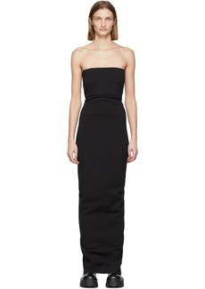 Rick Owens Black Bustier Gown
