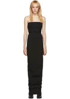 Rick Owens Black Bustier Gown Dress