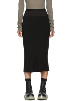Rick Owens Black Cady Skirt