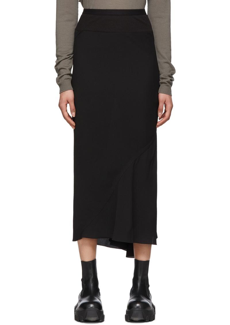 Rick Owens Black Calf Length Skirt