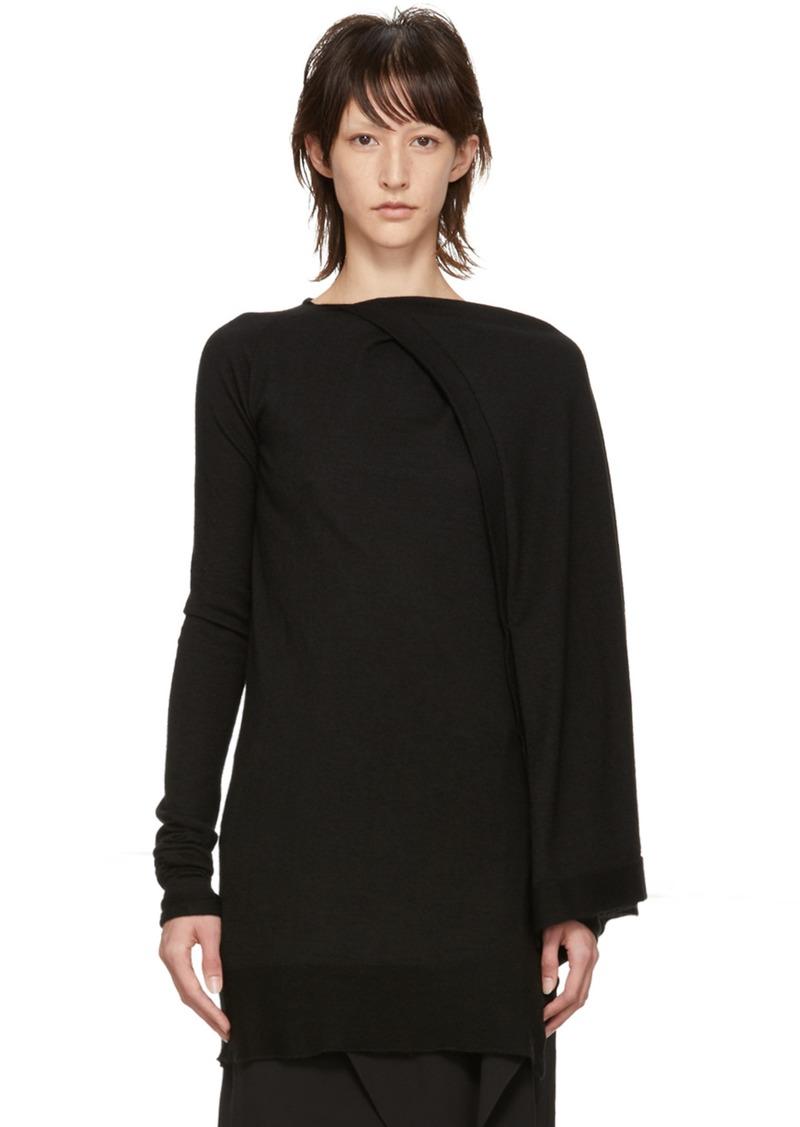 af2f19a34fa Rick Owens Black Cashmere Tunic Sweater | Sweaters